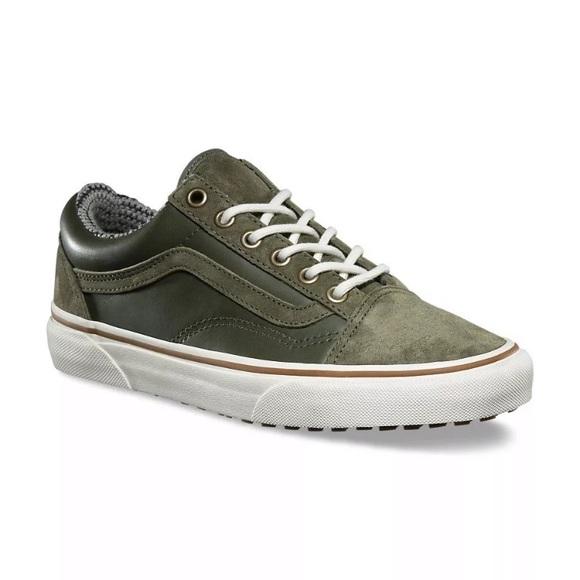 f29d758ffc5926 Vans old skool green leather suede MTE sneaker